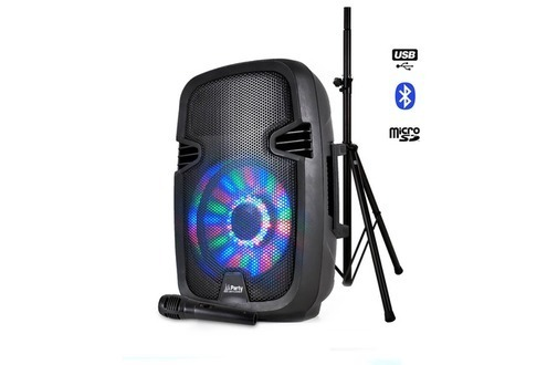 sono portable à LEDS 300W USB/BT/FM