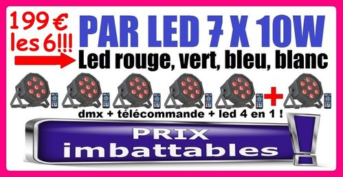199€ le Pack de 6 IBIZA PARLED710 Top Promo