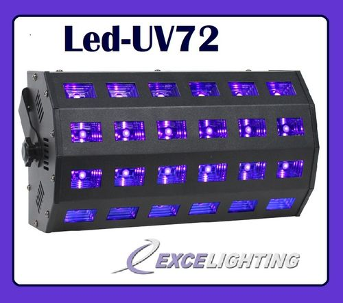 69€ le Led-UV72 Excelighting  24x3w dmx