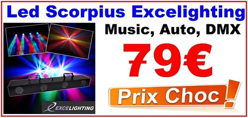 LED SCORPUIS EXCELIGHTING DMX