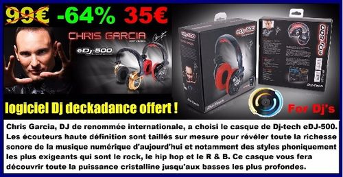 CASQUE AUDIO EDJ 500 DJTECH