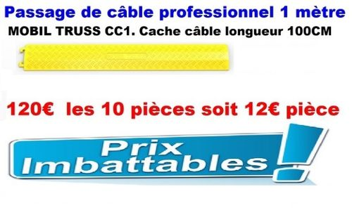 "PACK 10 CACHE CABLE CC1 ""MOBIL TRUSS"" 1M"