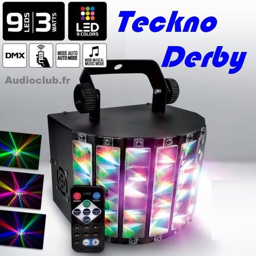 Teckno Derby DMX 9 couleurs promo imbattable