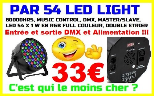 Par54 led light projecteur 54leds 1w full color