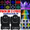 Pack de 2 lyres led gobo DMX prix imbattable