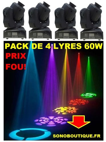 LMH50LED PACK DE 4 LYRES AFX IBIZA IMBATTABLE