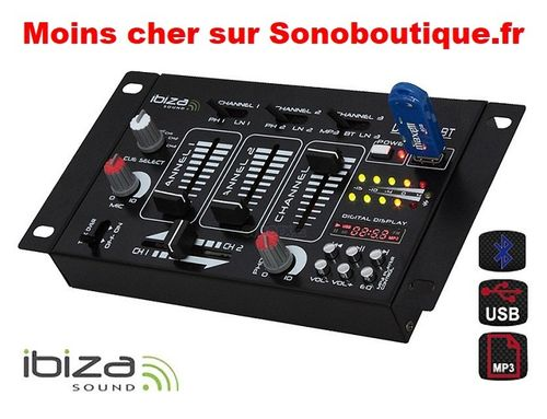 TABLE MIXAGE IBIZA DJ21USB-BT promo
