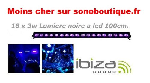 Barre a led UV 100cm 18 x 3 w Ibiza Led-Uvbar18