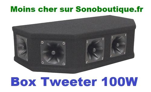 Soundlab Top Box Noir Piézo 100W P115CP