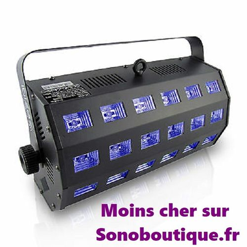 IBIZA LED-STUV24 Projecteur à LED Blanches + UV