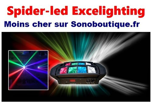 SPIDER Must Excelighting DMX 24W rgbw