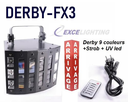 Excelighting Derby-fx3  Derby 3en1 strob & UV