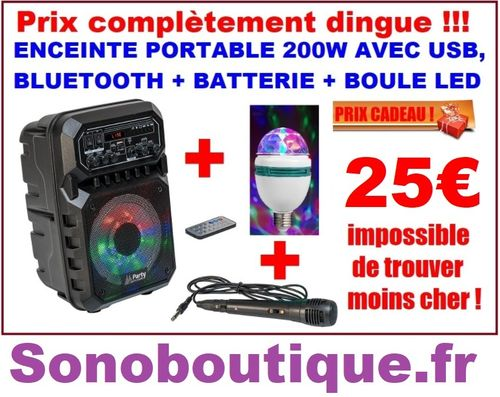 PARTY-6LED-MKII 200W + Boule led offerte !