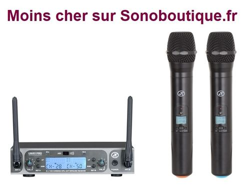 Micro professionnel Uway-PRO double UHF