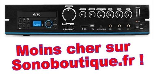 Ligne 100v Amplificateurs LTC Audio - PAA210CD